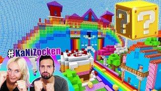 NINA WIRD MUTTER! Lucky Block Battle im REGENBOGEN LAND! Baby Nina bei Minecraft! #KaNiZocken