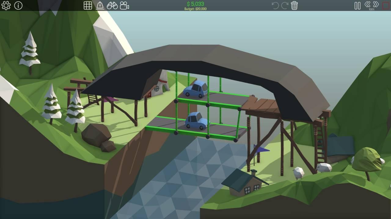 poly bridge level 1 15 youtube. Black Bedroom Furniture Sets. Home Design Ideas