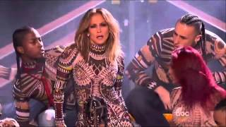 Jennifer Lopez performs 2015 hits medley at AMAs