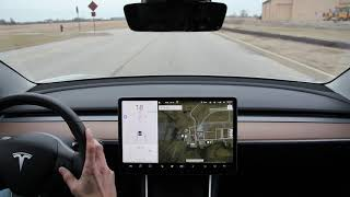 Tesla Autopilot 90 Degree Turn - Model 3 - 2018.50.6