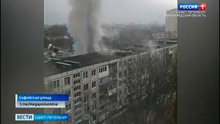 На Софийской улице тушили пожар в пятиэтажном доме: два человека пострадали