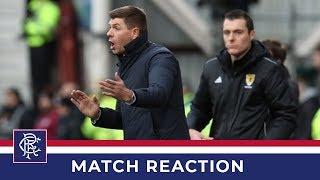 REACTION | Steven Gerrard | Hearts 2-1 Rangers