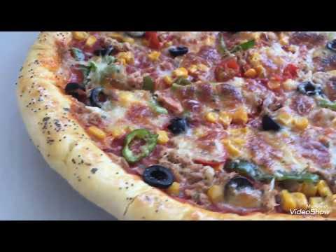 صورة  طريقة عمل البيتزا مطبخ أم اياد طريقة عمل البيتزا هشة ولذيذة مثل المطاعم روعة طريقة عمل البيتزا من يوتيوب
