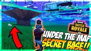 Under The Map Glitch Fortnite Battle Royale! (Win Everytime)