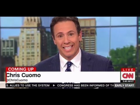CNN New Day Chris Cuomo responds to President Trump calling him a chained lunatic on television