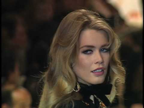 Claudia Schiffer on the Valentino 1996 Runway