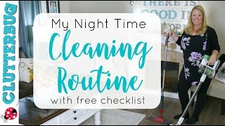 🌙My Night Time Cleaning Routine - Free Cleaning Checklist!