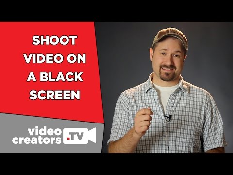How To Shoot Video on a Black Background