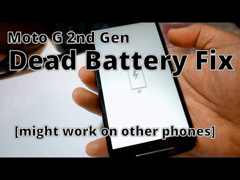 Moto G 2nd Gen: Dead Battery Fix (Might Work On Other Android Phones)