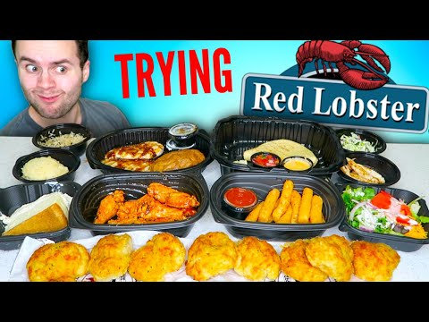 I Tried EVERYTHING At Red Lobster That's Not FISH! - Restaurant Menu REVIEW!