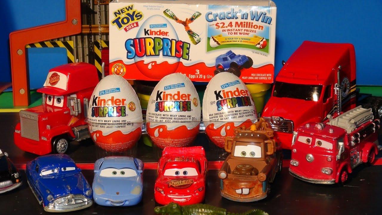 pixar cars 3 kinder surprise eggs delivered by mack to. Black Bedroom Furniture Sets. Home Design Ideas