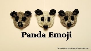 Rainbow Loom PandaFace Emoji/Emoticon charm - How to