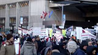 Coptic Christian Peace Procession Rally - Toronto, Ontario  CLIP 1 - January 30, 2010