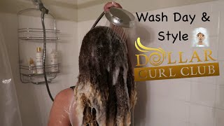 Wash Day & Style - Dollar Curl Club | Natural Hair Routine