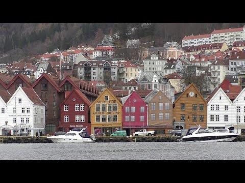 Bergen Norway and Mount Floyen Funicular Railway