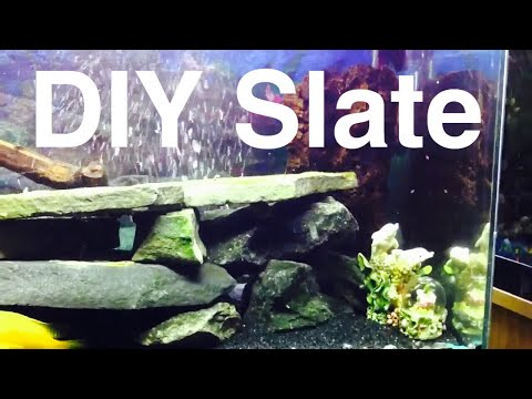 DIY Aquarium Slate or Flat Rocks Decor Aquascape