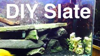 Diy Aquarium Slate Or Flat Rocks Decor Aquascape