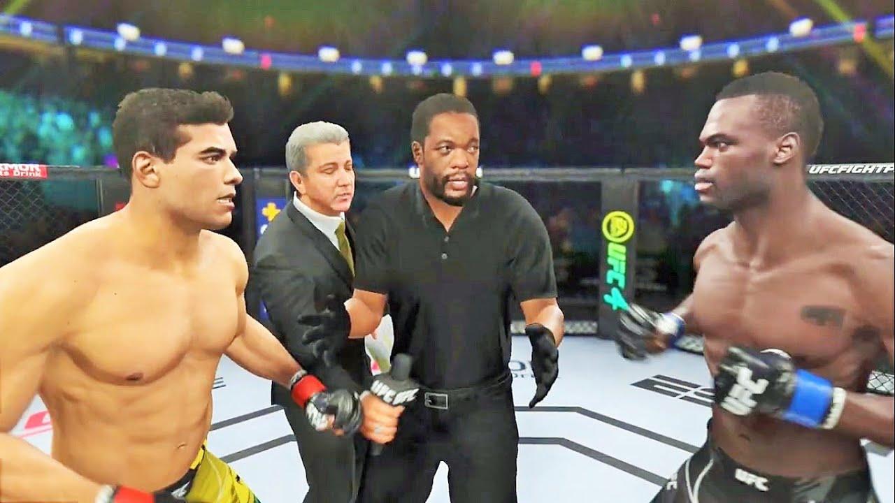 Paulo Costa vs Uriah Hall 2 Full Fight - UFC 4 Simulation