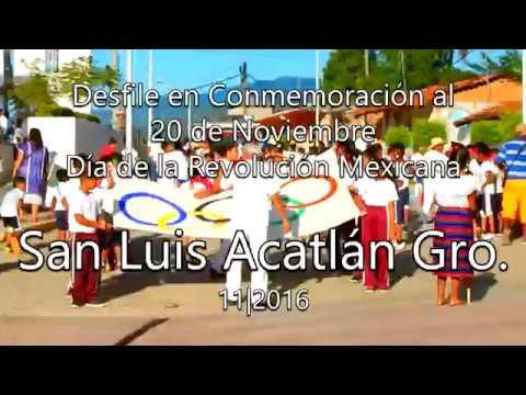 Desfile Deportivo San Luis Acatlán Gro. Primera parte (20/11/2016)