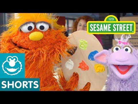 Sesame Street: Art School | Murray Had a Little Lamb