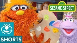 Sesame Street: Art School | Murray Had a Little Lamb