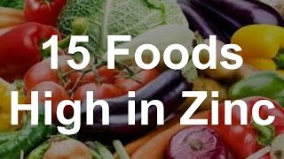 15 Foods High In Zinc