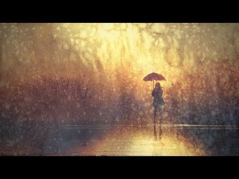 rainy day umbrella girl