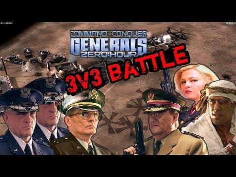 ЗОНА СВОБОДНОГО ОГНЯ 3v3 [Generals Zero Hour] TOP REPLAY