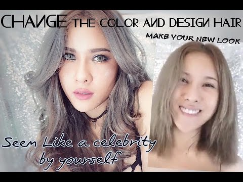 """How to dye your hair silver/gray by yourself. """"ย้อมผมสีเทาแบบประหยัดตังทำเองที่บ้าน"""""""