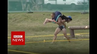 Fancy a go at wife-carrying? - BBC News