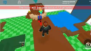 Redstone plays roblox chapter 2 : floor is lava ft bendy schoolhouse