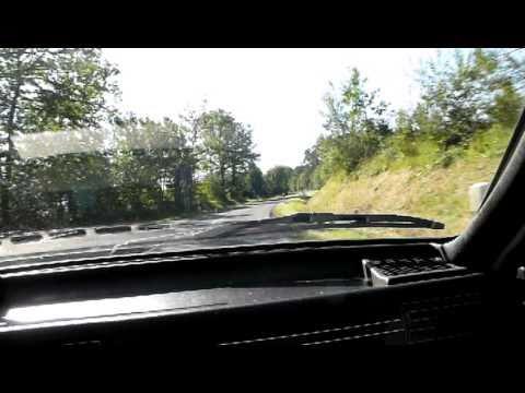 Audi 80 Coupe B2  fivebanger brüllt durch die Eifel