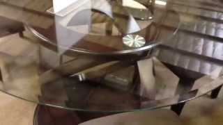 Atwood I Round Glass Dining Table With Chairs