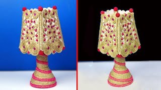 How to Make Lamp Showpiece Out of Jute Rope | Beautiful Jute Craft Idea | DIY Ideas for Home Decor