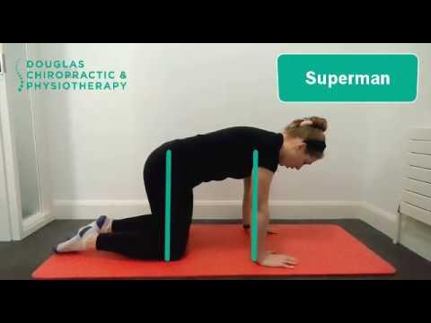 superman  physio exercise  douglas chiropractic