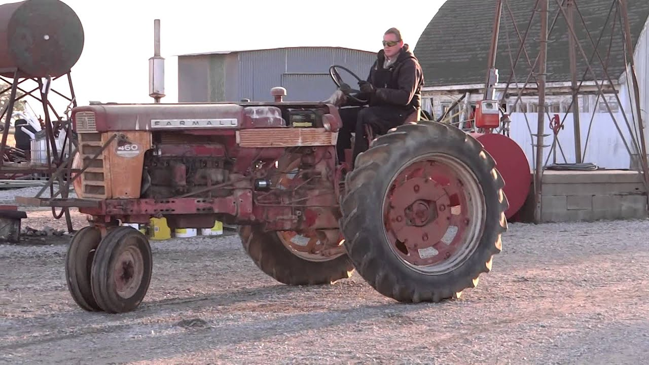 Farmall 460 Tractor Parts : Starting farmall for st time in years youtube