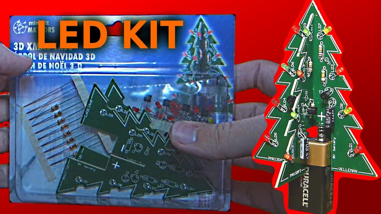 Velleman 3D Christmas Tree Kit Assembling