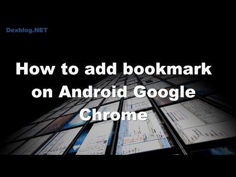 How to add bookmark on Android Google Chrome