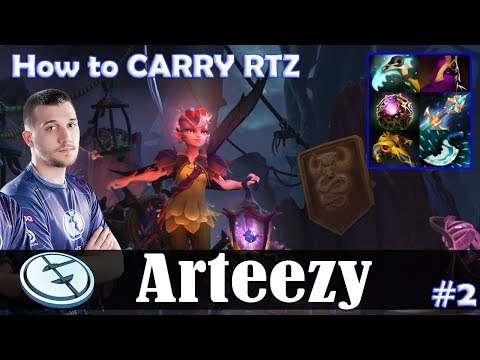 Arteezy - Dark Willow Offlane | How to CARRY RTZ | 7.07 Update Patch Dota 2 Pro MMR  Gameplay #2