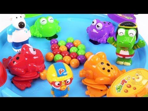 개구리 사탕 먹기 방탈출~ 5초 안에 문제를 풀지 못하면 개구리밥이 될 수 있다! (feat. 5초 준다) ❤ 뽀로로 장난감 애니 ❤ Pororo Toy Video