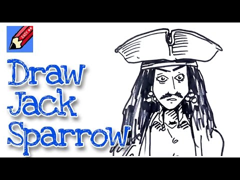 How to draw Jack Sparrow real easy - spoken tutorial - YouTube