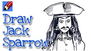 How to draw Jack Sparrow real easy - for kids and beginners