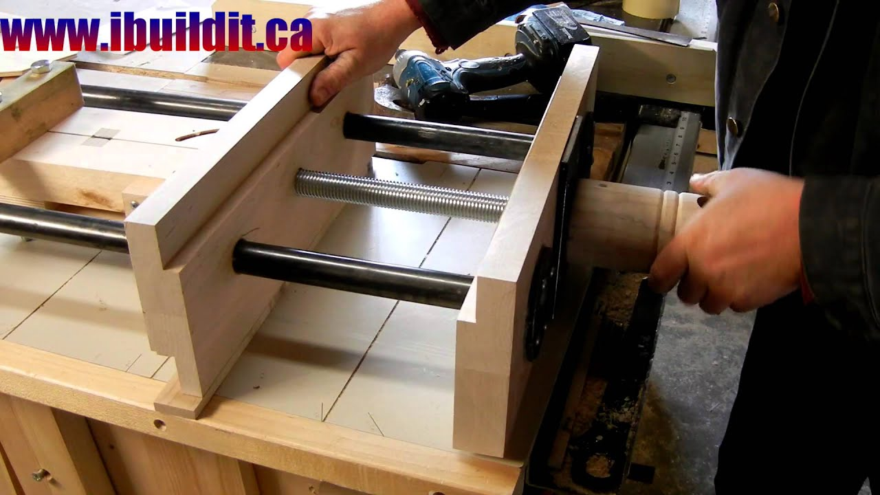 Homemade Woodworking Vise Preview - YouTube