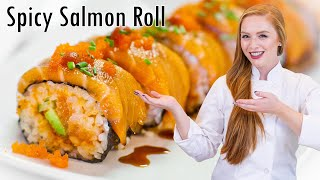 Spicy Salmon Roll - How To Make Sushi And Sushi Rice