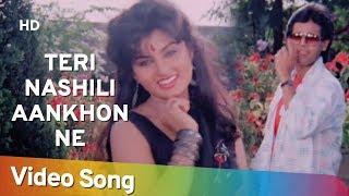 Teri Nashili Aankhon Ne HD Wohi Bhayaanak Raat 1989 Neeta Puri Rohan Kapoor Hindi Song