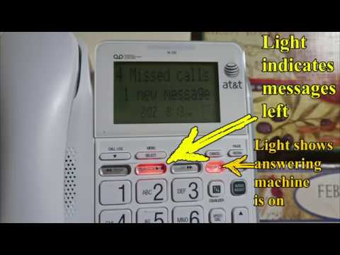AT&T CL4940 Corded Standard Phone with Answering System