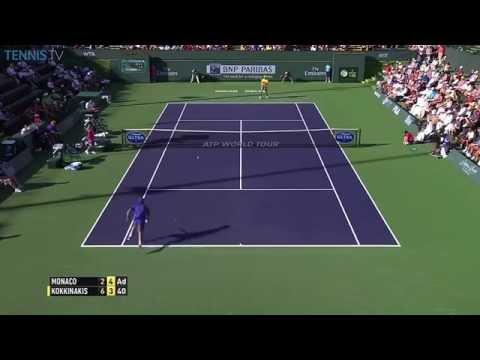 Incredible Point! Tweener Lob Winner Juan Monaco V Thanasi Kokkinakis - 2015 Indian Wells