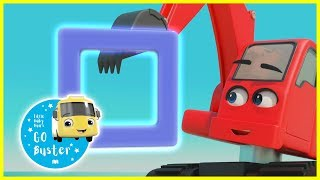 Buster And Digger Learn Shapes! | Go Buster | Baby Cartoons | Videos for Kids |  ABCs and 123s