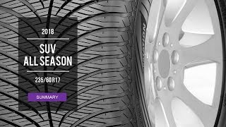 2018 SUV All Season Tire Test Results | 235/60 R17