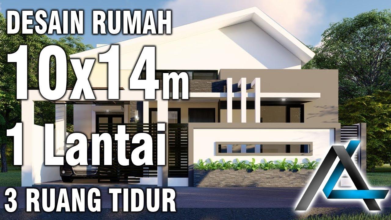 Desain Rumah10x14 Meter3 R Tidurjatengjasa Desainjasa
